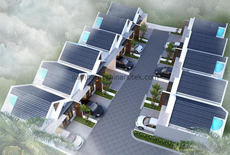 desain cluster minimalis satu lantai 6