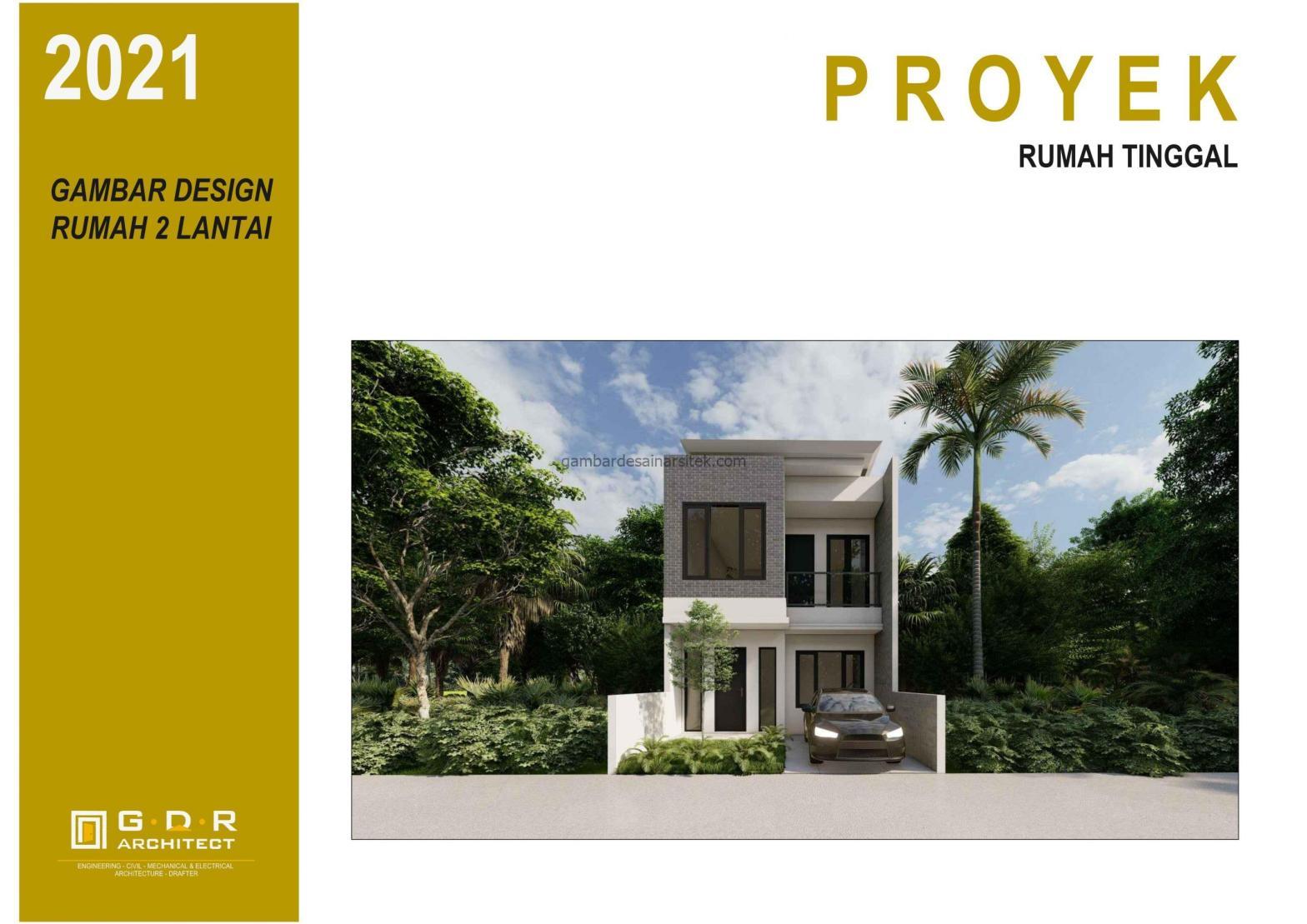 3d gambar desain rumah 2 lantai 6x14 1