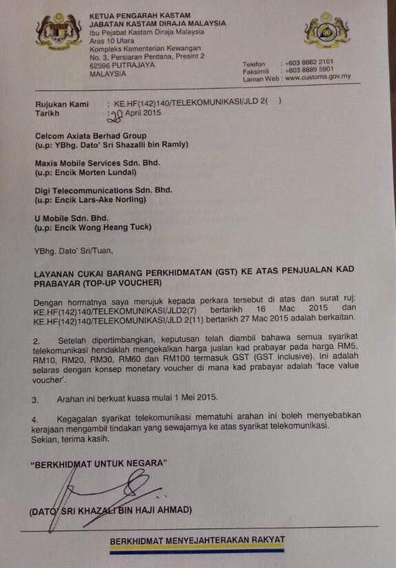 Contoh Surat Kastam Gst Backup Gambar