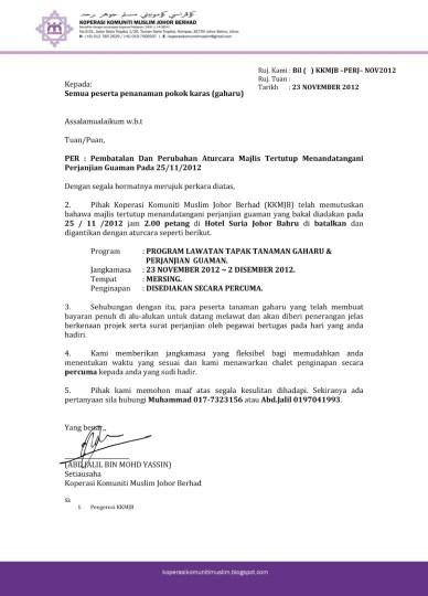 Contoh Surat Perjanjian Endorsement Letters For You