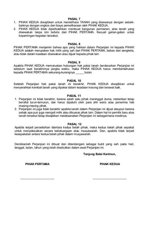 Perjanjian Pinjam Pakai : perjanjian, pinjam, pakai, Contoh, Surat, Perjanjian, Pinjam, Pakai, Backup, Gambar