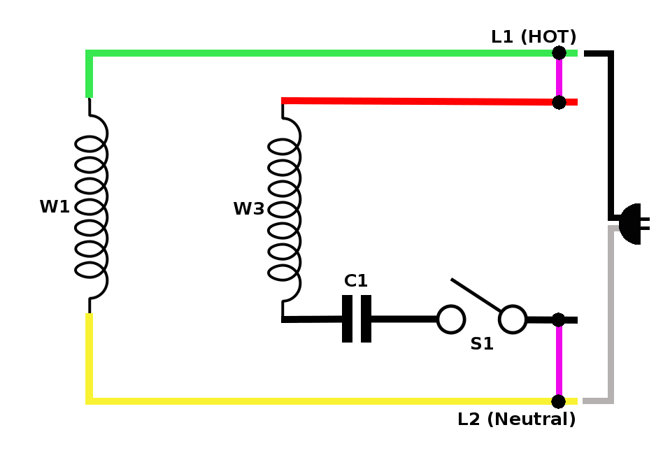 wiring diagram of a single phase motor with two capacitors sony xplod car radio on capacitor backup gambar