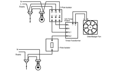 12v Bathroom Extractor Fan Wiring Diagram