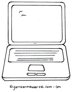 Gambar Mewarnai Laptop  Gambar Mewarnai