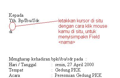 cara membuat data mail mergei microsoft word 2007