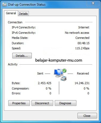 Cara setting koneksi internet dial up windows seven