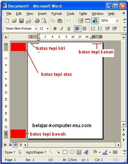 Cara Memperbaiki Microsoft Word 2010 : memperbaiki, microsoft, Mengatur, Kertas, Margin, Setup, Microsoft, Belajar, Komputer