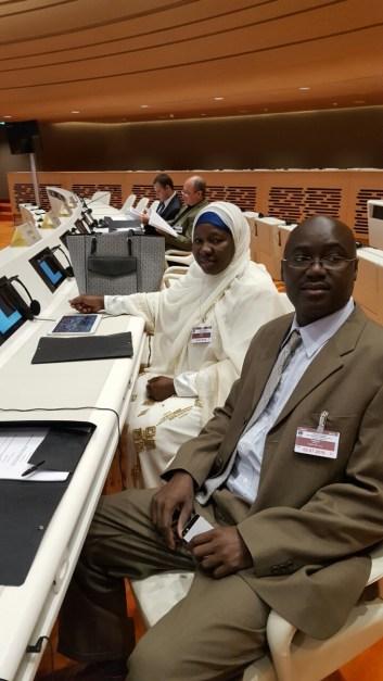 Mrs Jainaba Bah and Mr Suntou Touray