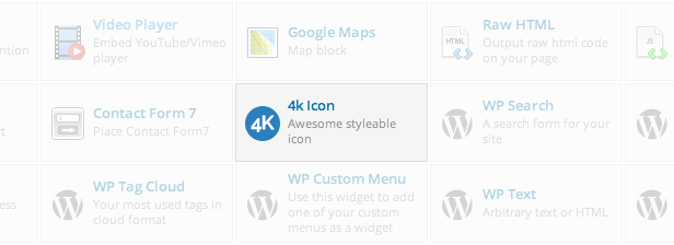 4k Icon element in Visual Composer