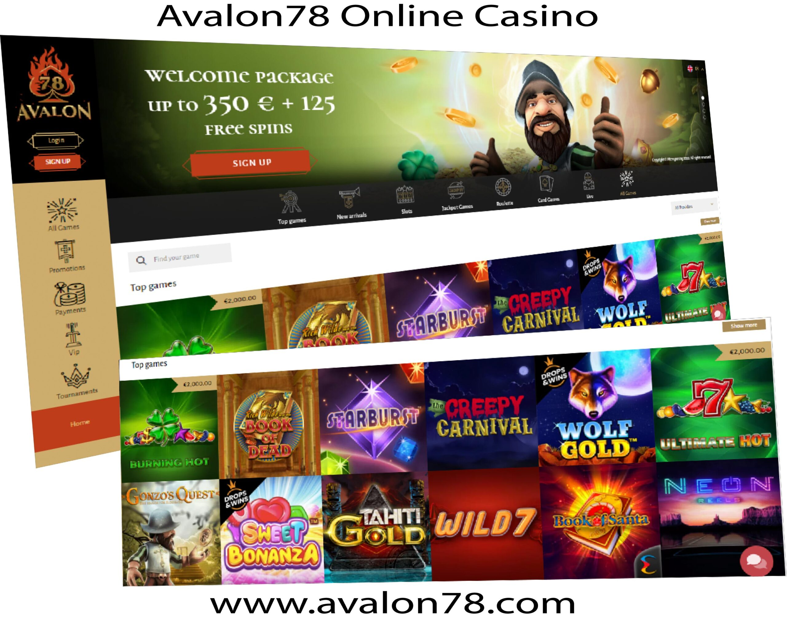 Online Casino Games at Avalon
