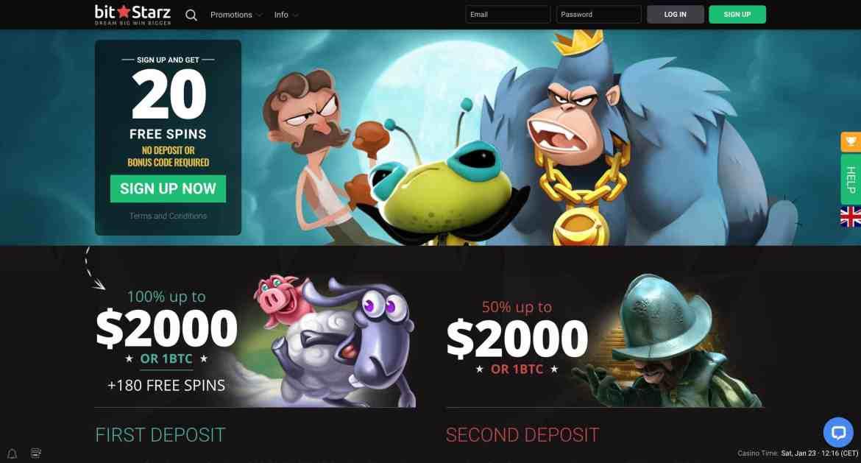 BitStarz Casino : get 20 free spins on signup + 300% match bonus