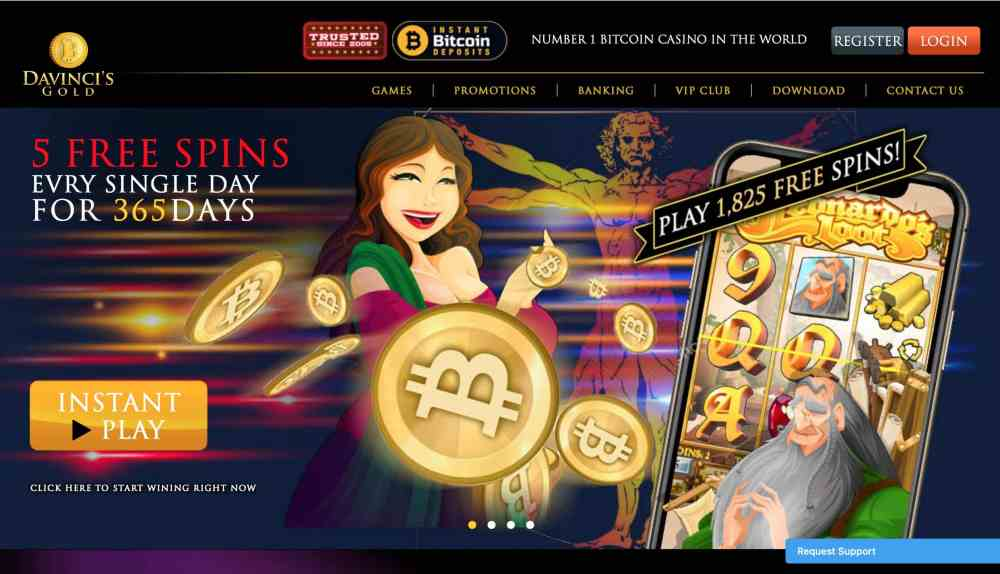 New Players At Davinci'S Gold Will Get $1,000 Davincis Gold Casino Deposit Bonus + 555 Free Spins Or May Claim 300% Bitcoin Deposit Bonus +100% Cashback.