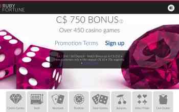 Ruby Fortune Casino - get a $750 free welcome bonus