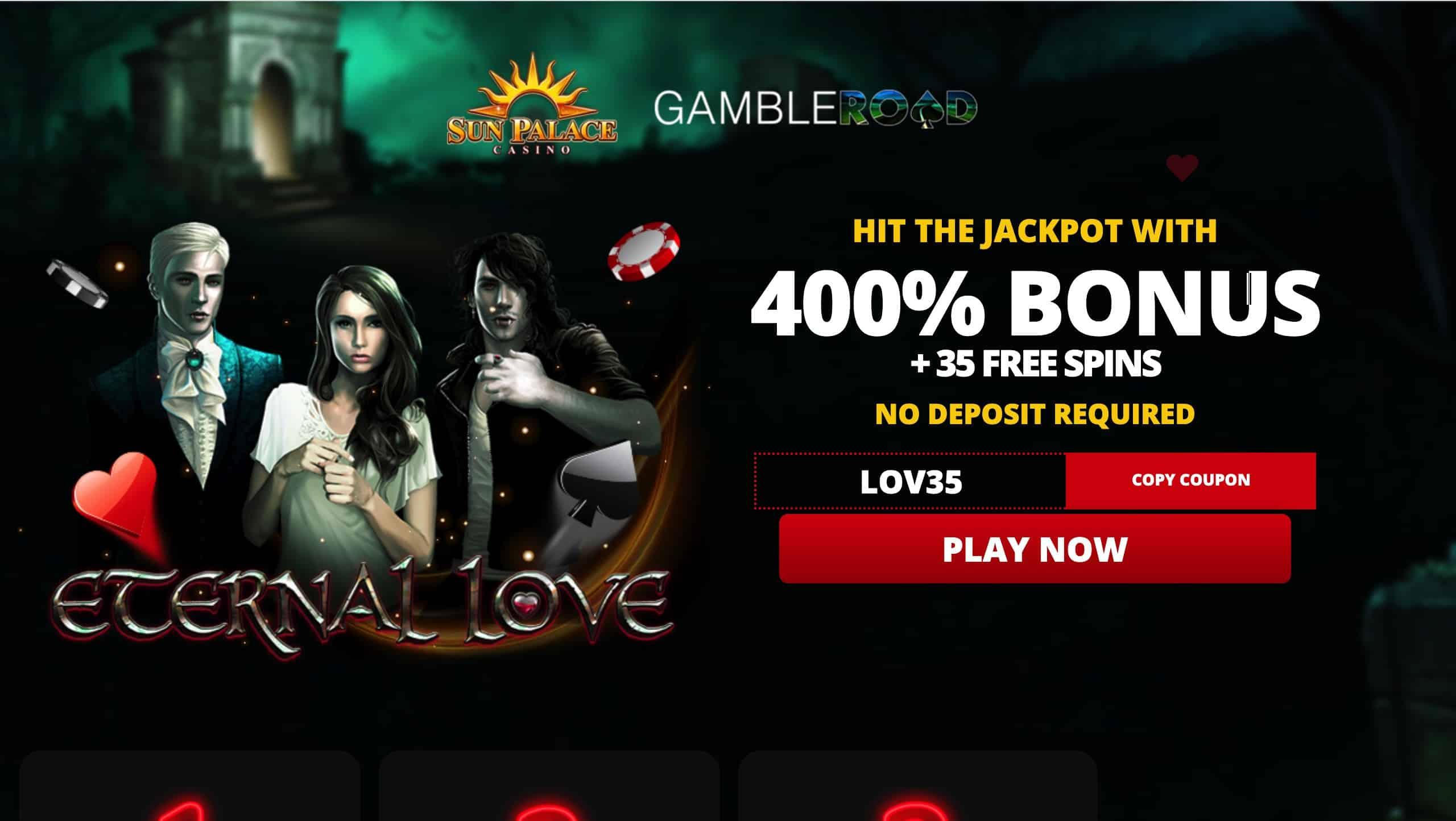 Sun Palace Casino 400 Deposit Bonus Plus 25 Free Spins