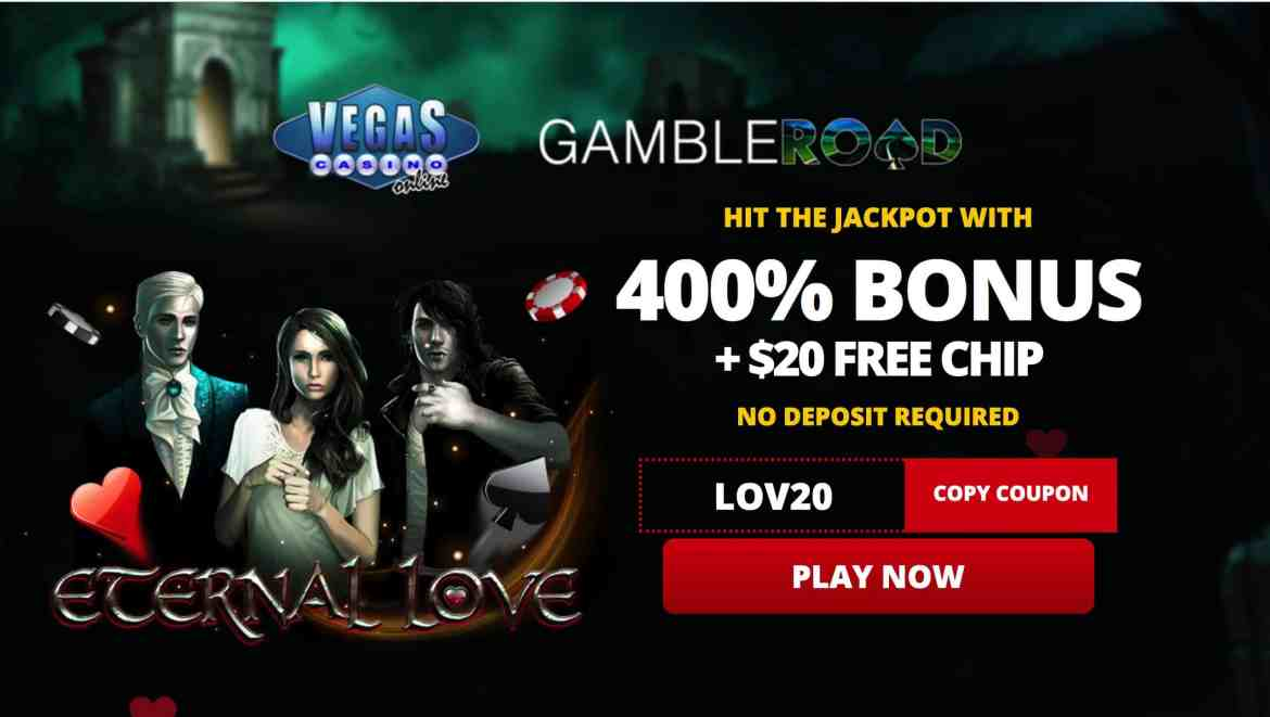 Vegas Casino Online : 400% Welcome Bonus + $20 Free Chips