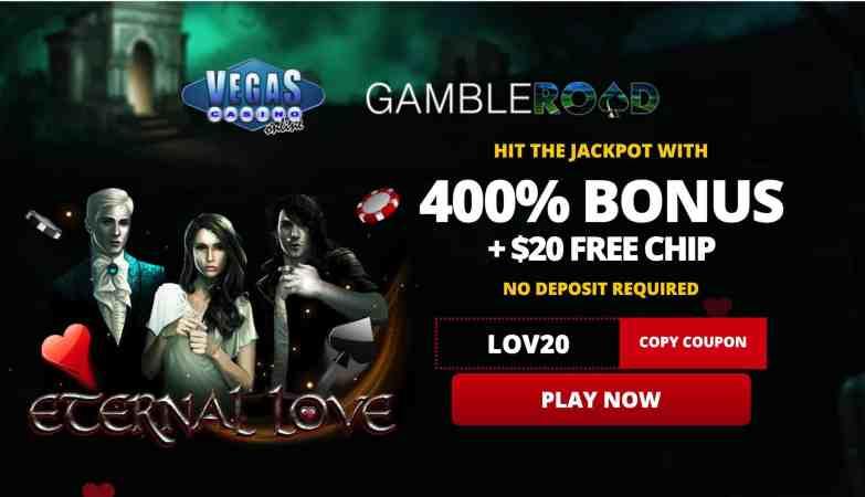 Vegas Casino Online - 400% deposit bonus + $35 free spins