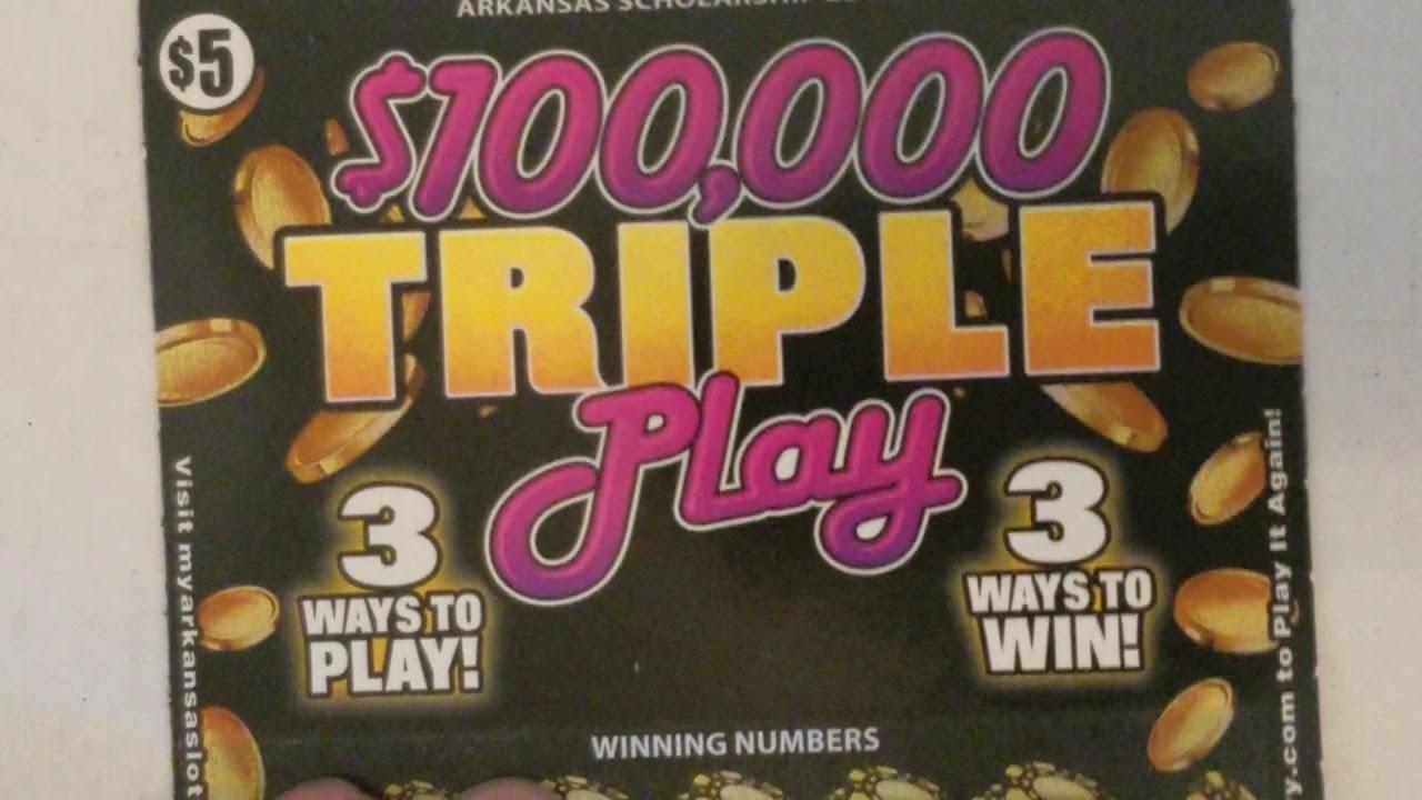 WINS! ARKANSAS LOTTERY FAN MAIL SCRATCH OFF TICKETS!
