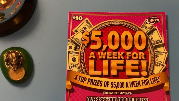 FLORIDA LOTTERY SCRATCH OFF WINNER - $5,000 A WEEK FOR LIFE