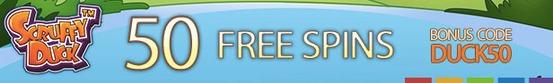 Scruffy Duck 50 free spins