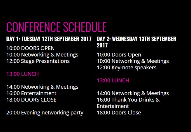 AffiliateCon Sofia Schedule
