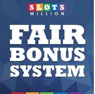 SlotsMillion Fair Bonus System