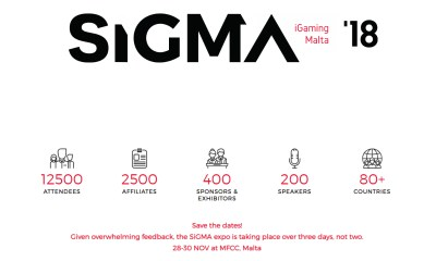 SiGMA 2018 Launches in 2 Weeks