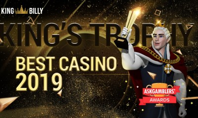 One King to rule them all! King Billy wins Best Casino in the AskGamblers Awards!