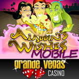 Bonus and Free Spins Available to Try the New Mobile Version of Aladdin's Wishes Slot at Grande Vegas Mobile Casino