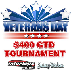 Veterans Day poker tournament at Intertops Poker and Juicy Stakes