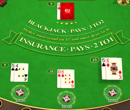 Upcard in American Blackjack