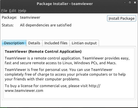 How to install TeamViewer 9 on Linux Deepin 2013 - Tutorial and Full