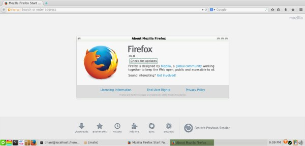 firefox 30 on pclinuxos 2014.05