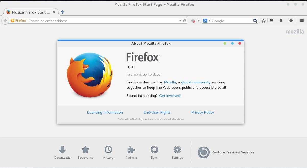 Updating firefox on opensuse