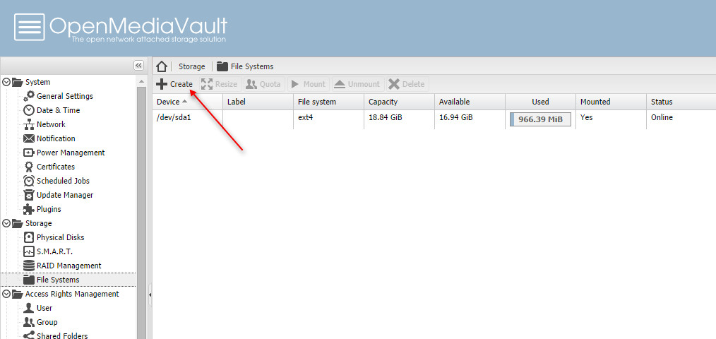 How to add new disk to OpenMediaVault 1 0 - Tutorial and Full