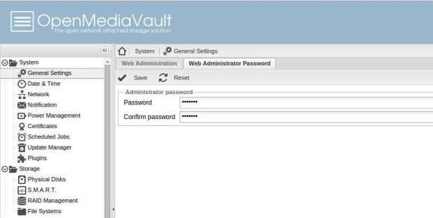 how to change root password on openmediavault