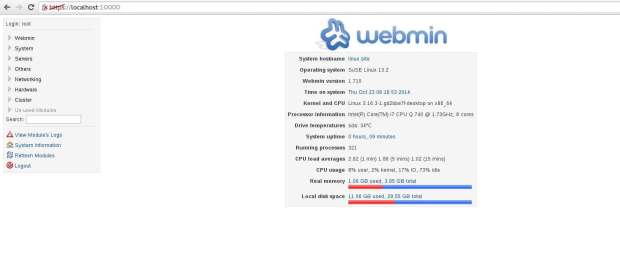 webmin 1.710 opensuse 13.2