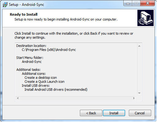 install android sync 5