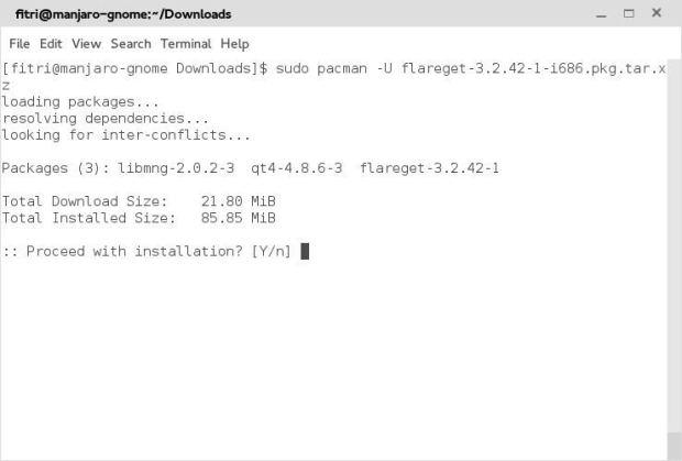 install flareget on manjaro linux