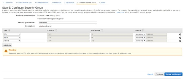 aws create new instance 5