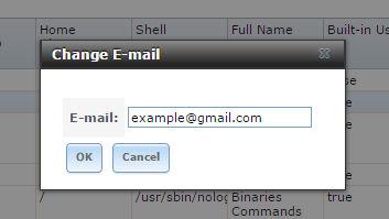 change email freenas
