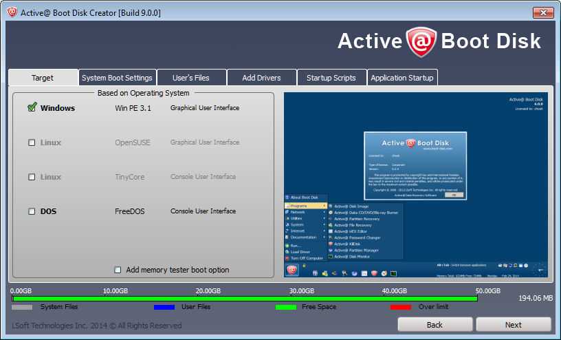 How to create Active Boot Disk to restore lost Windows password