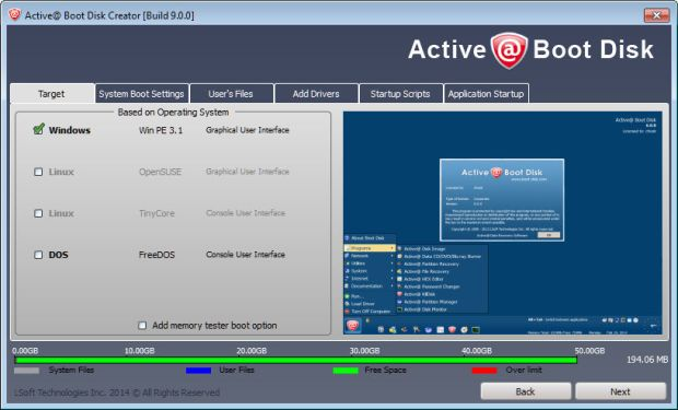 active boot disk 2