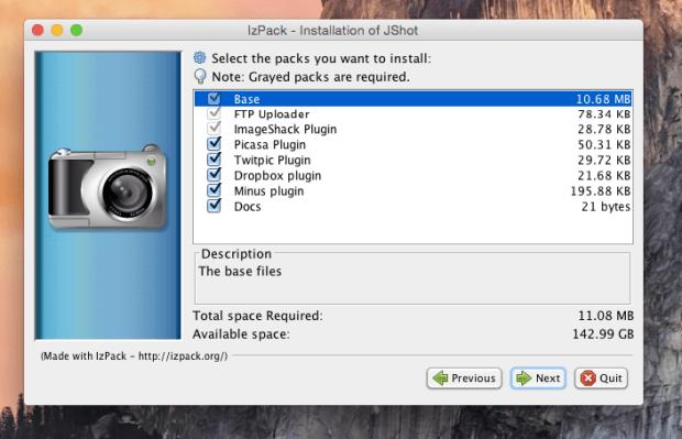 jshot install 5
