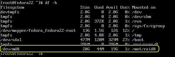 raid on fedora 22 server 9