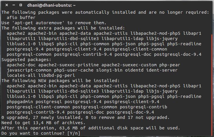 How to install PostgreSQL and phpPgAdmin on Ubuntu 15 10