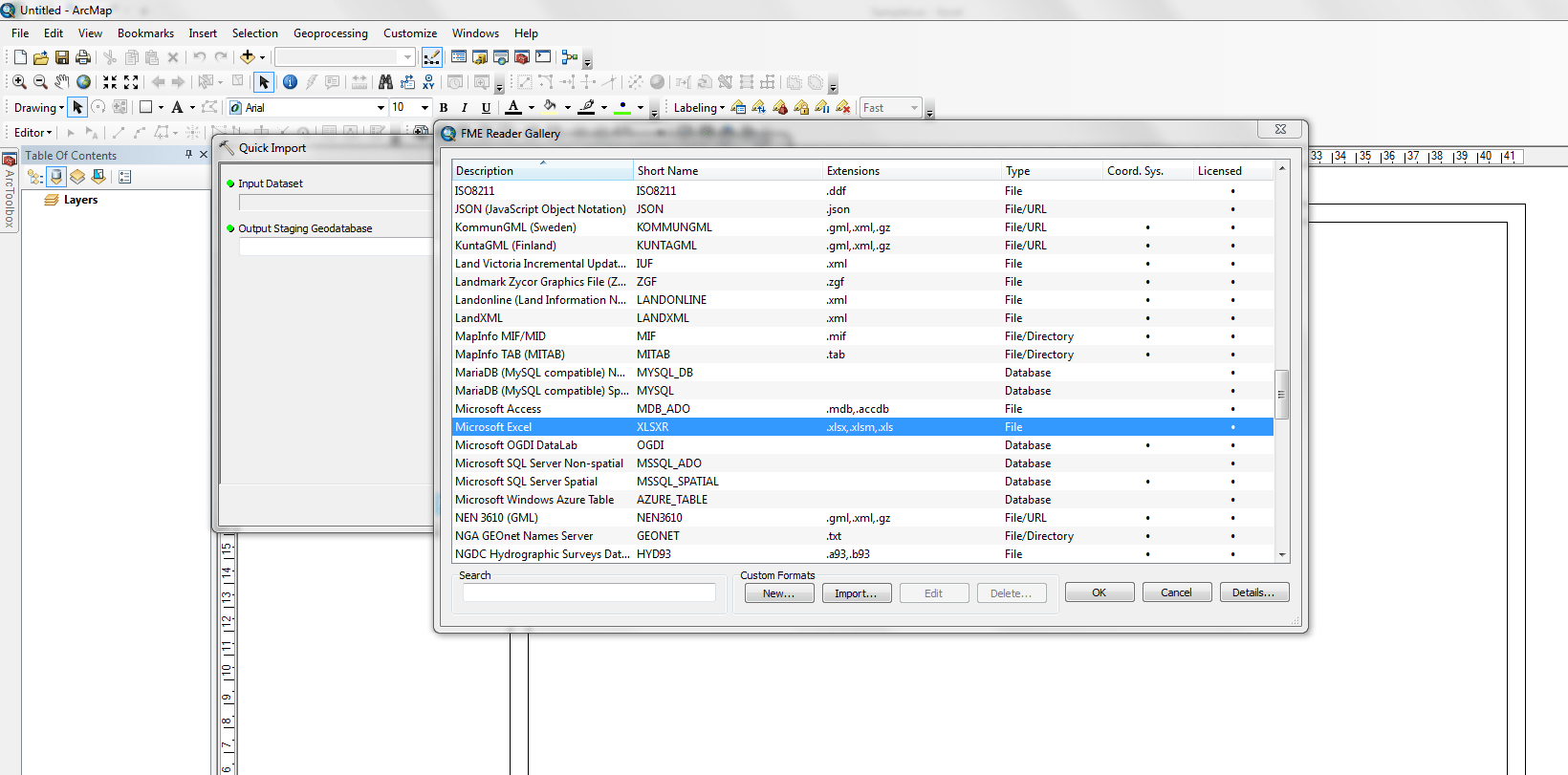 How To Import Microsoft Excel Data To Arcgis 10 2