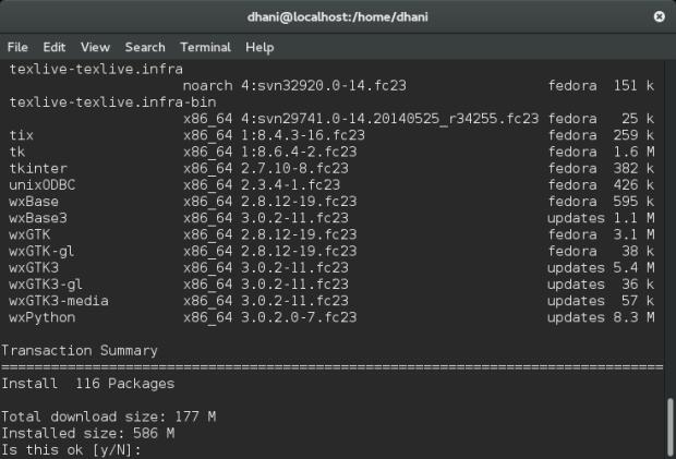 install qgis on fedora 23
