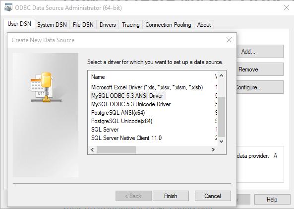 mysql odbc windows 10