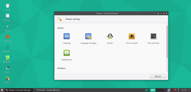 Manjaro 16.06 screenshots 3.png