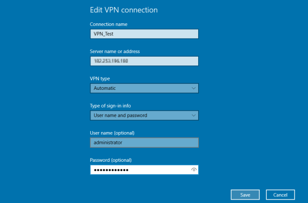 create vpn connection windows 10 9